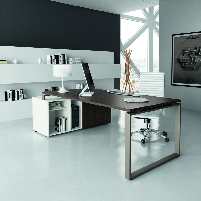 Scrivanie moderne scrivania direzionale loft for Scrivania direzionale