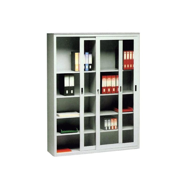armadio-in-metallo-ante-scorrevoli-vetro - I.Metallici